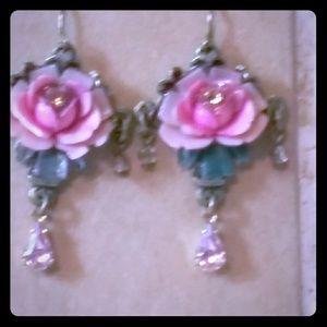 Hand made romantic earrings